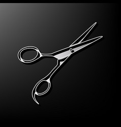 hair cutting scissors sign gray 3d vector image vector image