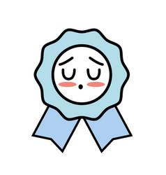 Kawaii cute tender medal prize vector