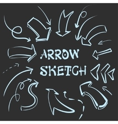 large set of hand-drawn vintage arrows Form style vector image