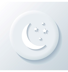 Moon 3D Paper Icon vector image vector image