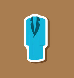 Paper sticker fashion clothes long coat vector