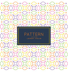 Pattern with floral shapes vector