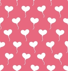 Pink Seamless Pattern with Hearts Balloons for vector image vector image