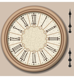 Quadrant of Victorian Clock with Lancets vector image