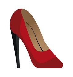 red high heels accessory elegant vector image