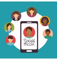 social media connection persons design vector image vector image