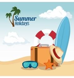 Summer vacations holiday poster vector