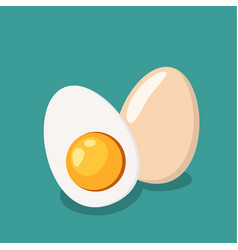 whole egg and half of egg vector image vector image