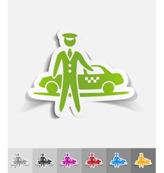 Realistic design element the parking and taxi vector