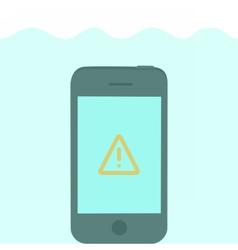 Phone in water vector image