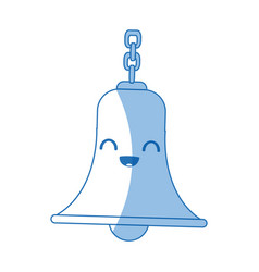Kawaii bell with chain antique traditional vector