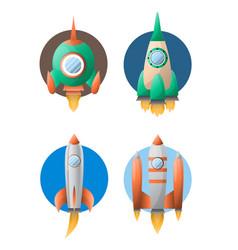 Rockets taking off vector