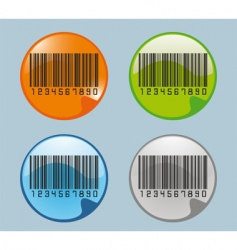 Barcodes glossy icon vector