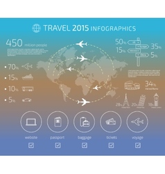 Travel infographic vector image