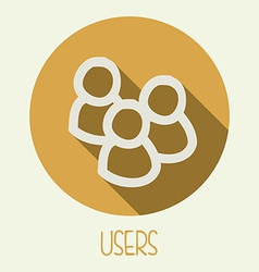 users icon design vector image