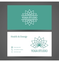 Yoga studio business card template vector