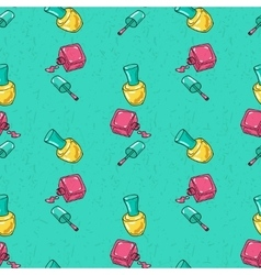Seamless pattern with nail polish vector