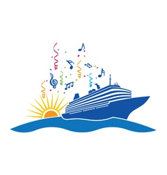Party cruise logo vector