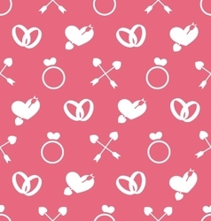 Seamless wallpaper for valentines day or wedding vector