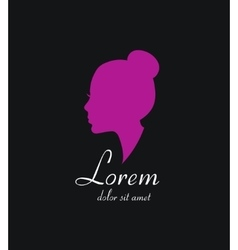 Woman silhouette logo icon beauty salon vector