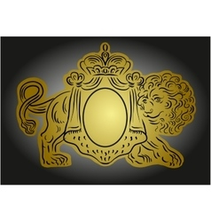 heraldic with crown and lion vector image