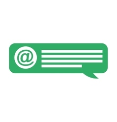 speech bubble social media vector image