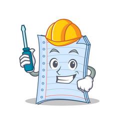 Automotive notebook character cartoon design vector
