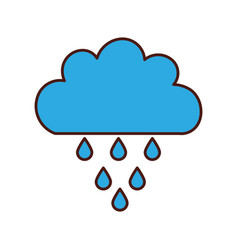 Beautiful fantasy cloud with rain drops vector