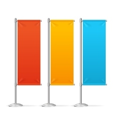 Blank Banner Flags Colorful Set vector image