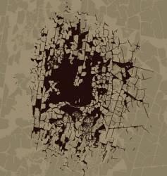 broken surface texture vector image vector image