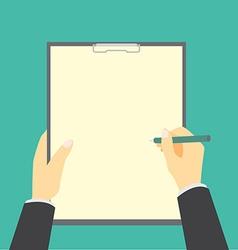 Checklist on clipboard vector