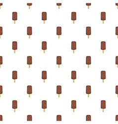 Chocolate popsicle on a stick pattern vector