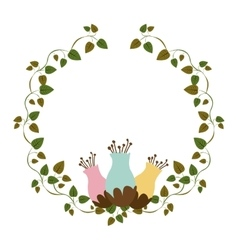 Colorful ornament creepers with flowerbud vector