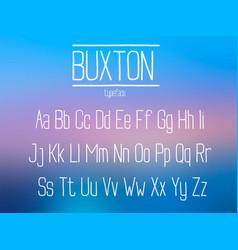 condensed sans serif font vector image