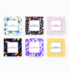 covers with geometric design vector image vector image