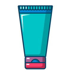 Creme tube icon cartoon style vector