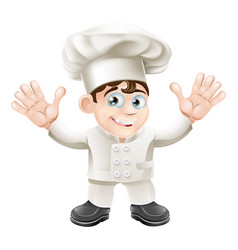 cute chef mascot character vector image vector image