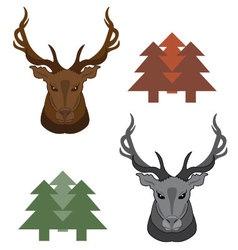 Elk - dual tone vector