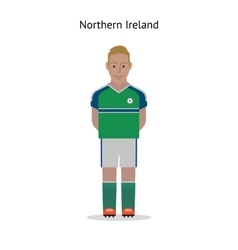 Football kit northern ireland vector