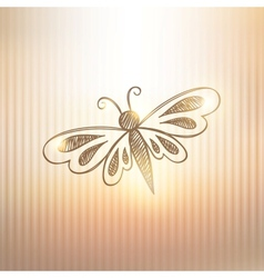 hand drawn butterfly vector image vector image