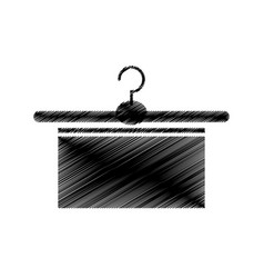 hook clothes with towel isolated icon vector image