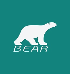 image of an bear white design vector image