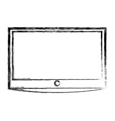 Lcd tv isolated icon vector