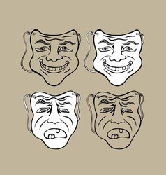 Mask face vector