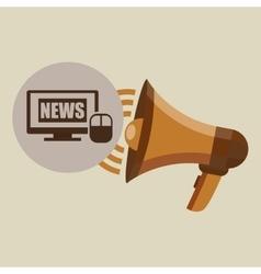 Megaphone concept news digital internet design vector