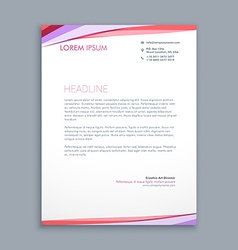 Modern colorful letterhead design vector