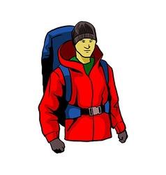 Mountaineering vector image vector image