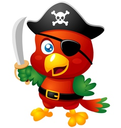 Pirate bird vector