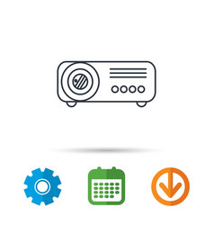 projector icon video presentation device sign vector image