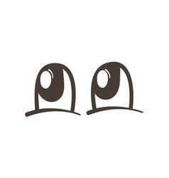 Sad comic eyes expression vector